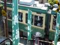 江ノ電 腰越駅の近くの踏切